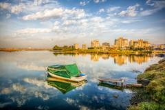 City in the nature, Izmir (Nejdet Duzen) Tags: trip travel building nature turkey boat cloudy trkiye sandal hdr apartman izmir turkei seyahat doa bostanl bulutlu maviehir