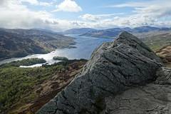 view from Ben A'an (Sean Munson) Tags: mountain lake water rock landscape scotland highlands hiking loch trossachs scottishhighlands lochkatrine queenelizabethforestpark benaan