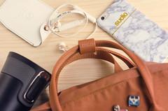 City wanderer essentials (Wasel Wasel Crafts) Tags: sudio sweden bluetooth headphones music iphone6 fjallraven kanken brick contigo waterbottle wireless