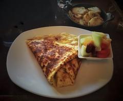 Eggs, Bacon & Ham Crepe @ La Maison De La Crepe - Tremblant, Quebec