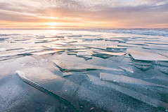 _DSC2347 (phatwhistle) Tags: michigan sunrise leelanau northport lakemichigan ice winter water frozen icesheets brokenice cold waterscape seascape