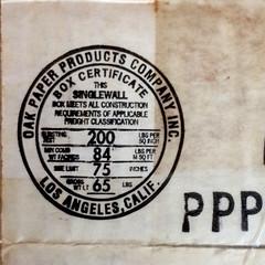 Oak Paper Box Certificate