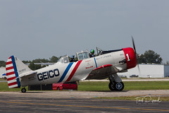 SnF20150425-1603.jpg (flyer_2001) Tags: skytypers prattwhitney usa sunnfun formations lakelandairport r1340an1 n65370 geico florida displayteam northamerican snj2 bu2562 pw lakeland