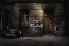 No parking (Tomasz Aulich) Tags: car noparking rust backyard building architecture door dark darkness lodz poland nikon nikkorlens travel abandoned decay urbex urban city street colour vintage oldschool windows europe jeep auto