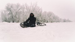 Winter skating (snow.sk) Tags: snow winter snowflakes white frost bicycle bicyclist mask glasses