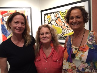 Clare Vickery with Teresa Sorrentino and Susan Felner at Teresa's gallery space in Coconut Grove