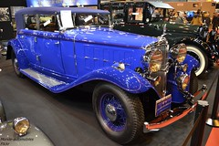 Nash Type 1093 four door Convertible Sedan 1932 (Monde-Auto Passion Photos) Tags: auto automobile voiture vehicule nash four door convertible sedan cabriolet spider bleu ancienne rare rareté collection france paris retromobile evenement