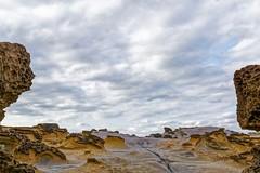 Contrasts (Rice Bear) Tags: taiwan yehliu geological park taipei sky clouds rocks grey brown travel travelgram geology