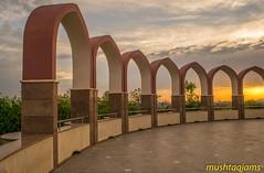Sunset at Pakistan Monument (mushtaqjams) Tags: pakistan islamabad pakistanmonument sunset architecture
