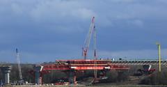 Webster from Spike Island. (Barry Miller _ Bazz) Tags: constructionwork construction rivermersey rivercrossing widnes runcorn merseygateway canon5dmark3 300mmf4llens outdoorphotography