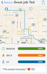 #activetransportation when you blink your eyes and its 3 miles later, you know it's ❤ DC 😎 #metrofreefriday 🚶