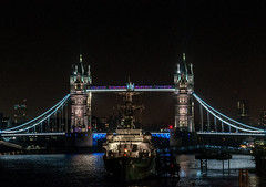 Tower Brige - Classic image from London (Federico Violini) Tags: london londra night nightimages cityoflondon londonbridge uk nikon d90 nightshots