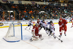 "Missouri Mavericks vs. Allen Americans, March 3, 2017, Silverstein Eye Centers Arena, Independence, Missouri.  Photo: John Howe / Howe Creative Photography • <a style=""font-size:0.8em;"" href=""http://www.flickr.com/photos/134016632@N02/33117918382/"" target=""_blank"">View on Flickr</a>"