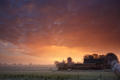 20170118-Canon EOS 750D-0868 (Bartek Rozanski) Tags: stompwijk zuidholland netherlands leidschendam holland nederland greenheart groenehart wilsveen farm sunse sky cloud