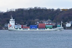 Gerda (Gerry Hill) Tags: gerda imo 9113745 container ship south queensferry scotland forth road bridge harbour river water firth replacement crossing north