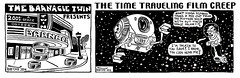 Time Traveling Film Creep - 2001 A space odyssey 2777 (Brechtbug) Tags: 2001 a space odyssey stanley kubrick nyc 2017 the time traveling film creep barnacle twin presents brecht newspaper cartoon without paper comic comics theater theaters theatre movie movies films new york city brechtbug comix monsterdesign future travel scifi science fiction toys toy holiday bubbles open pod bay doors hal spherical capsule with familiar logo