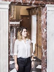 Marijke, Rembrandthuis 2017: Doorway (mdiepraam) Tags: rembrandthuis 2017 amsterdam museum marijke pretty blonde girl woman door interior house