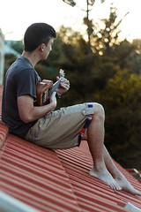 Day 224 (inbar_stern) Tags: brother ukulele music roof home outdoor outside view sun sunset light lights guitar instroment fun green 365 365daysproject 365dayschallenge 365challenge 365project 365days project365