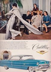 Cadillac and Dior 1956 (barbiescanner) Tags: vintage retro fashion vintagefashion 50s 50sfashion vogue vintagevogue vintageads cadillac dior dovima