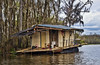 HouseBoat (msuner48) Tags: d750 acr5 cs4 swamp slidellla cajuncountry houseboat water trees toilet ramshackle clouds sky topazlabs nikcollection nikonafs24120mmf4ged