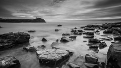 Stepping Stones (Simon Rich Photography) Tags: kimmeridge stepping stones rocks bay water edge sea coast coastline jurassic blackandwhite monochrome still calm long exposure dorset simonrich simonrichphotography mrmonts canon