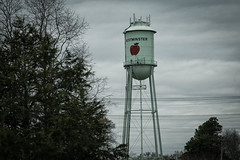 Water Tower - Westminster S.C. (DT's Photo Site - Anderson S.C.) Tags: canon 6d 24105mml lens water tank westminster oconee south carolina apple festival small town southern america country roads vanishing vintage rustic pastoral main street usa upstate