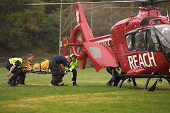 Loading a patient (lenswrangler) Tags: ems rescue elcerrito cerritovistapark n31rx reach airambulance helicopter lenswrangler digikam eurocopter ec135 p2