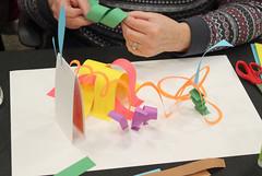 Georgetown Family Fun Night March 27, 2017 - Paper Sculpture (ACPL) Tags: fortwaynein acpl allencountypubliclibrary georgetown geo familyfunnight papersculpture 2017