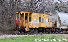 UP Caboose 25881 3-31-17 (KansasScanner) Tags: up unionpacific railroad train bonnersprings kansas local caboose