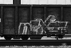 (o texano) Tags: houston texas graffiti trains freights bench benching next nekst dts defthreats a2m adikts