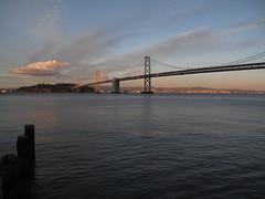 Oakland Bay Bridge Dusk (ty law) Tags: sanfrancisco2017 sanfrancisco sfmoma art museum modern coittower oaklandbaybridge leovillareal richardserra alexandercalder clyffordstill morrislouis cytwombly transamericabuilding gerhardrichter berndandhillabecher roylichtenstein jasperjohns