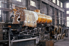 Bits and pieces (Bingley Hall) Tags: transport train transportation trainspotting rail railway railroad locomotive engine asia china tangshan works workshops steam construction boiler 282 sy 1988