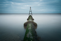 Hit the Pipe (SimonTHGolfer) Tags: landscape landscapephotography sea seascape water minimal minimalist minimalism symmetry pipe longexposure simontalbothurnphotography norfolk hunstanton
