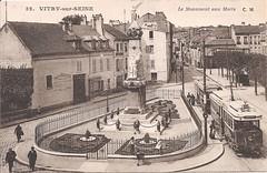Vitry-sur-Seine-Le-Monument-aux-Morts (gpmetropole) Tags: cpa vitry port à l anglais edf centrale electrique ardoines