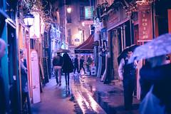 Street under rain (black_aze) Tags: nikon d7200 paris street colors colorfull rain reflection night light bokeh umbrella
