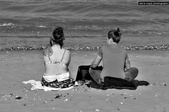 Cleethorpes - North East Lincolnshire (SteveH1972) Tags: cleethorpes canon70200lf28usmnonis canon7d canon70200 70200 northenengland northeastlincolnshire lincs lincolnshire coast beach humber girl girls people person blackandwhite monochrome bw sand 2017 outside outdoors outdoor sit sitting seated
