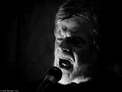 And the man in the back said everyone attack (Neil. Moralee) Tags: anything but singer microphone mic mike face portrait sing yell shout scream dark anythingbutthat man old mature ballroom blitz contrast harsh flash strobe nikon d7100 18300mm zoom neil moralee black white mono monochrome bandw bw blackandwhite blackbackground people beard moustache performer performance artist musician gig band concert loud noise charts diabolical sinister powerful power rock roll jaz blues grunge garage pop metal heavy that