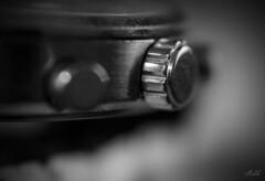 Project 365; #94 (iMalik1) Tags: project 365 days photo day challenge close up macro watch jewellry silver dial gear cog black white bnw monochrome monotone diy ideas stuck home vignette ealing photographer imalik photography canon eos 600d mycanon canonuk canonphotos canonwhatelse sekonda