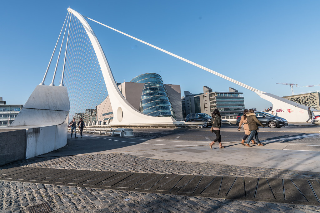 SAMUEL BECKETT BRIDGE [THIS MUST BE THE MOST PHOTOGRAPHED BRIDGE IN DUBLIN]-126734