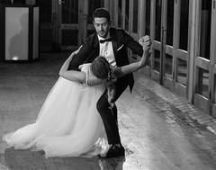 The dance! (dmunro100) Tags: dance wedding bride groom monochrome bw highiso