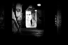 (s@brina) Tags: underpass faces atmosphere surroundings blackandwhite street