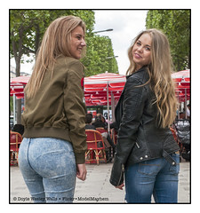 Shanna and Britney, Having Some Fun on a Summer Afternoon (Doyle Wesley Walls) Tags: sb bb 0016 women girls females jeans denim hair blonde beautiful portrait photograph feminine faces femenino kvinde féminin weiblich femminile kvinna mädchen ragazza flicka fille ガール jente dziewczyna chica žena mujer femme kobieta donna smile shanna britney doylewesleywalls streetportraiture