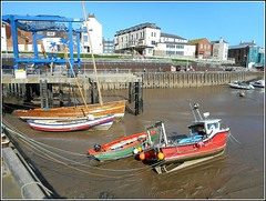 Low Tide View .. (** Janets Photos **Feeling a bit Better) Tags: uk bridlington eastyorkshire harbours piers jetties boats preservedcraft