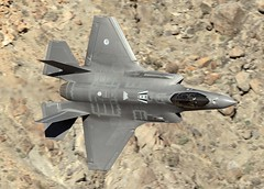 F35 LOW LEVEL (Dafydd RJ Phillips) Tags: f35 lightning levellow level low canyon rainbow wars star transition jedi valley death dutch air force california nellis nevada