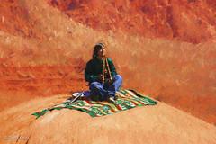 Navajo Musician (buffdawgus) Tags: canon55250mmis canonrebelxti lightroom6 monumentvalley navajomusician navajonation topazsw utah