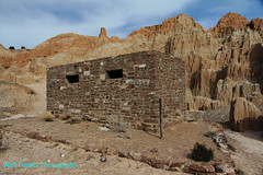 2017_03_11 Cathedral Gorge State Park_11 (Walt Barnes) Tags: bathroom restroom wood stone rock canon eos 60d eos60d canoneos60d wdbones99 topazsoftware pse15 cathedralgorge nevada cathedralgorgestatepark