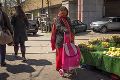 Five weeks after the Brussels attacks. Midi Market, May Day 2016. (joelschalit) Tags: brussels bruxelles belgium europe europeanunion eu women headscarf immigration civilrights ricoh pentax gender southasian portrait ricohgr streetphotography