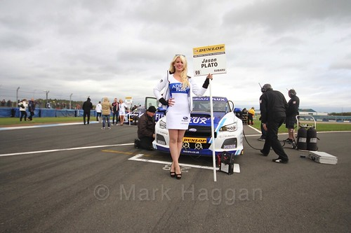 Jason Plato on the grid before race two at the British Touring Car Championship 2017 at Donington Park