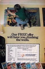 Konami - Climbing the walls (justinporterstephens) Tags: videogames retrogames retrogaming vintageads nintendo nes