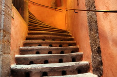 Low-cost housing for needy mice (Croix-roussien) Tags: orange color stairs graphic lyon insolite nationalgeographic escaliers graphique vieuxlyon potd:country=fr